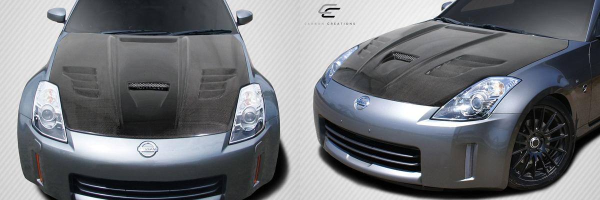 350Z Vader Carbon Fiber Hood